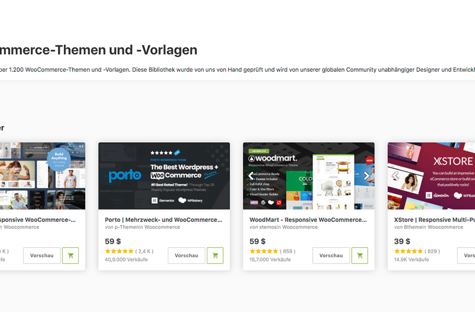 5 Meistverkauften Wordpress Woocommerce Themes