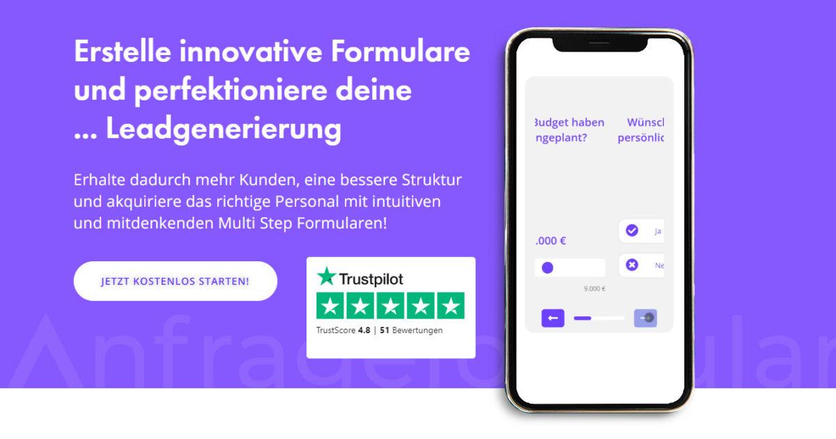 Anfrageformular Leadformular Online Tool
