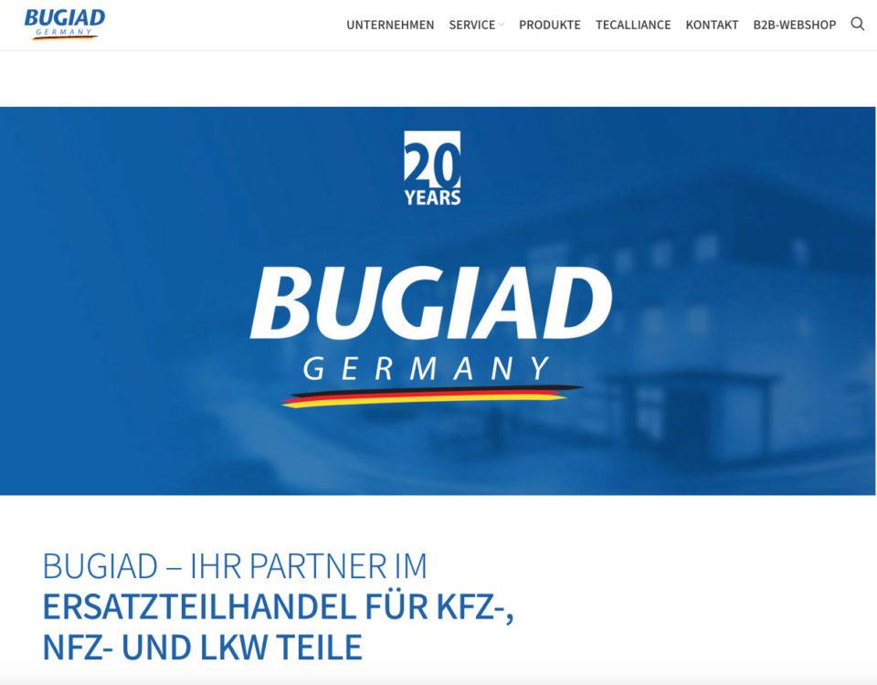 Bugiad Ersatzteilhandel Kfz Nfz Lkw Teile Wordpress Webdesign Programmierung