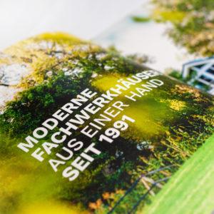 Concentus Fachwerkhaus Imagebroschuere Baubeschreibung Druckerei Broschuere Katalog Layout 137