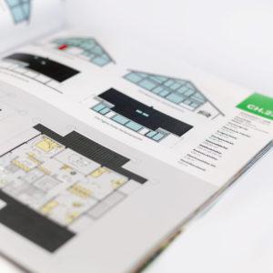 Concentus Fachwerkhaus Imagebroschuere Baubeschreibung Druckerei Broschuere Katalog Layout 141