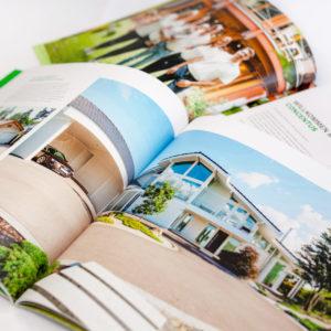 Concentus Fachwerkhaus Imagebroschuere Baubeschreibung Druckerei Broschuere Katalog Layout 200