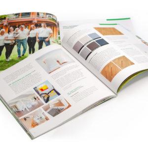 Concentus Fachwerkhaus Imagebroschuere Baubeschreibung Druckerei Broschuere Katalog Layout 203