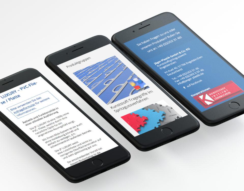 Jaeger Plastik Referenz 2 Mobile Responsive Webdesign
