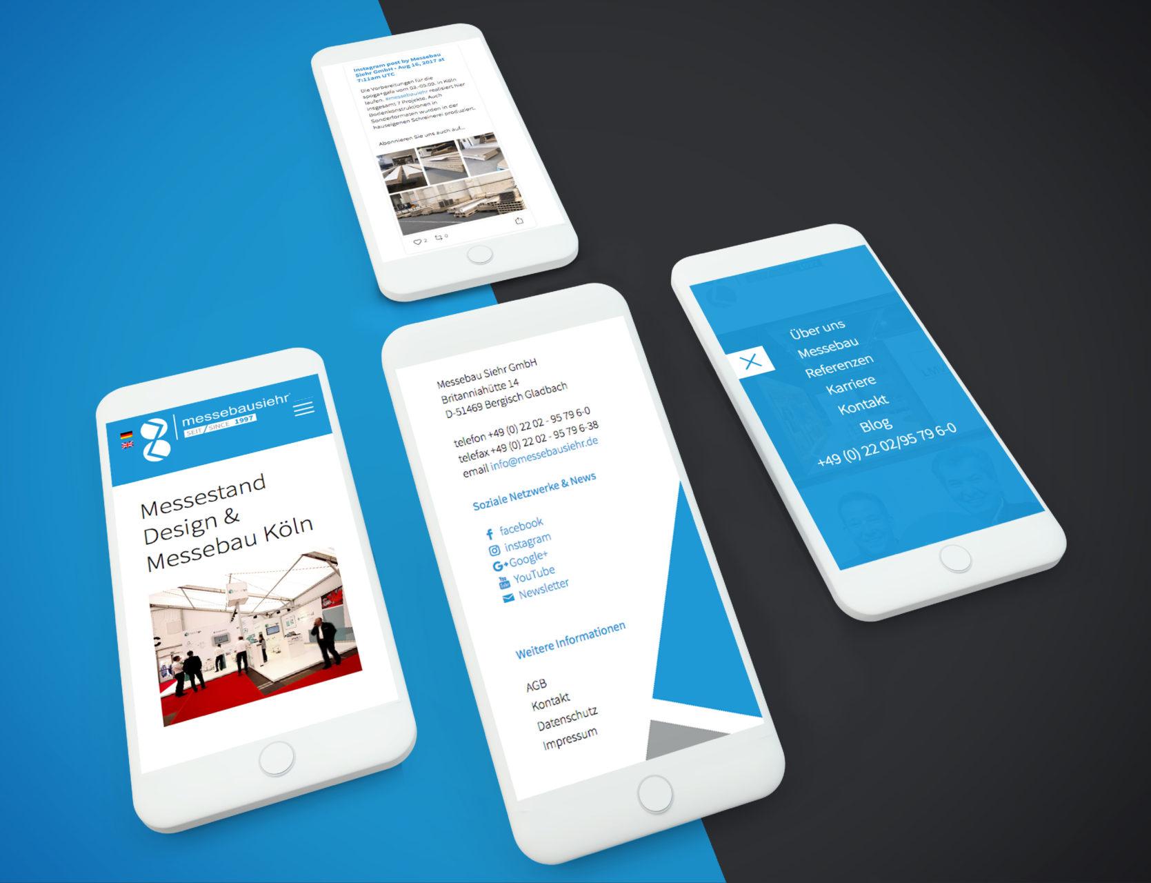 Messebau Siehr Referenz 3 Responsive Mobile Webdesign