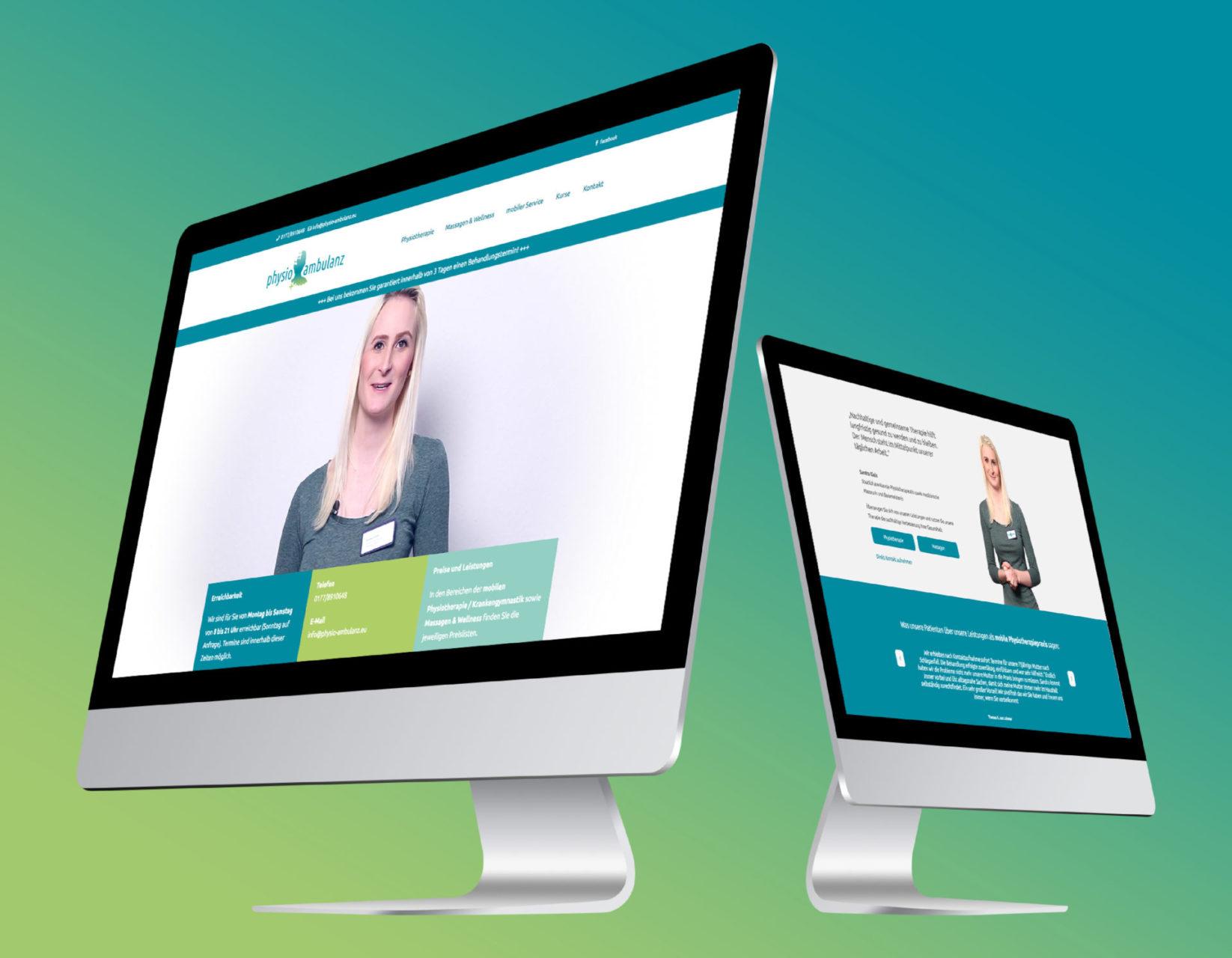 Physio Ambulanz Referenz 1 Webdesign