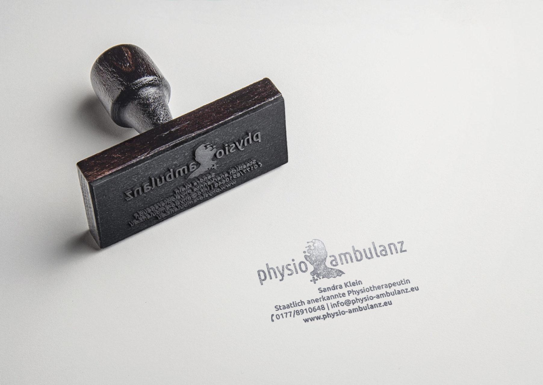 Physio Ambulanz Referenz 4 Print Druck Stempel