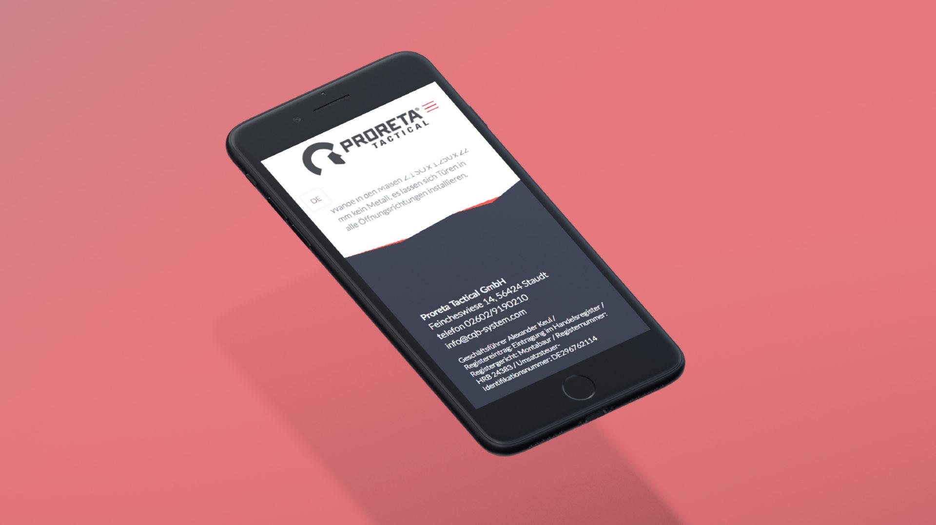 Proreta Referenz 4 Mobile Responsive Webdesign