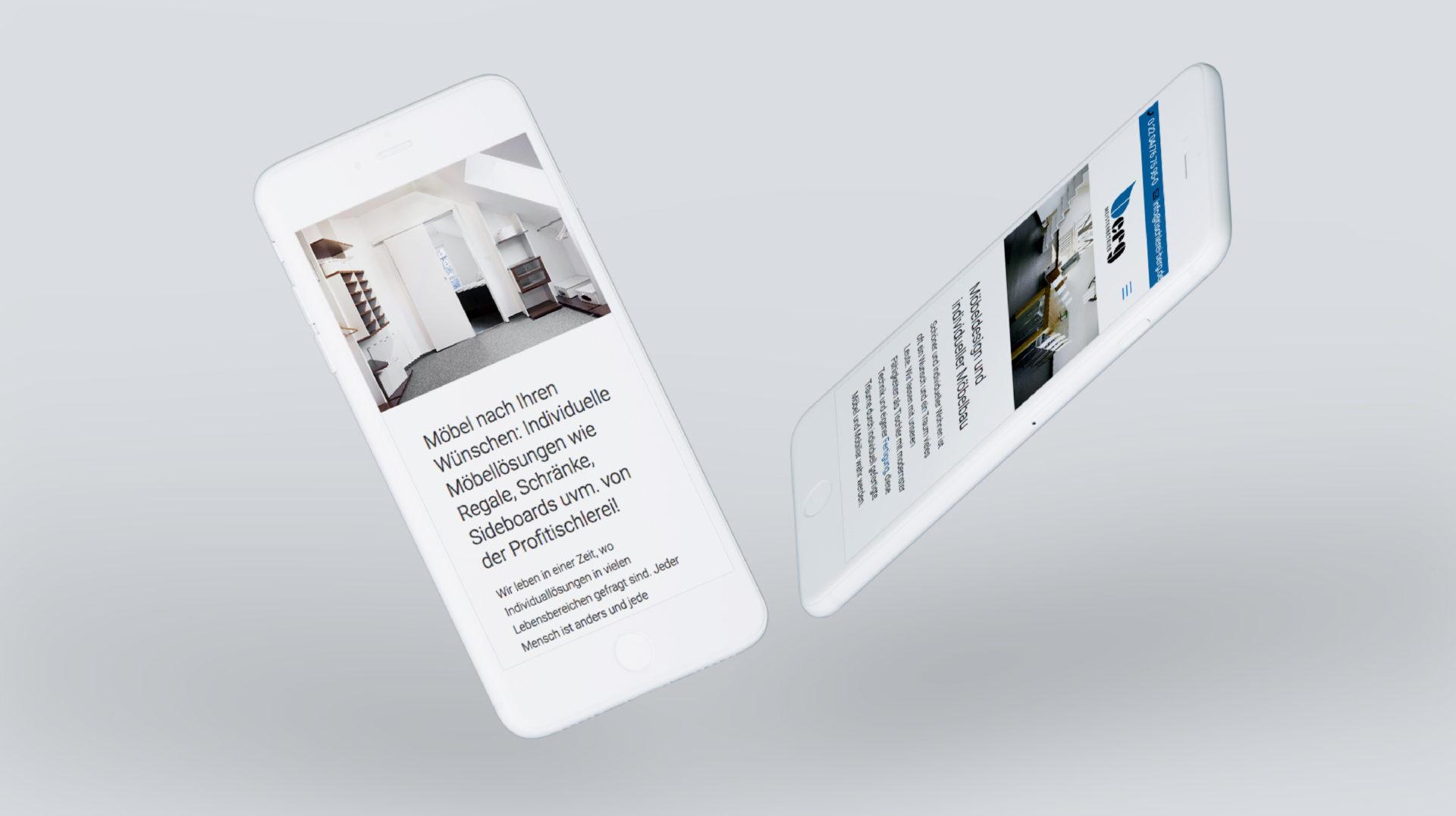 Tischlerei Berg Referenz 3 Mobile Responsive Webdesign