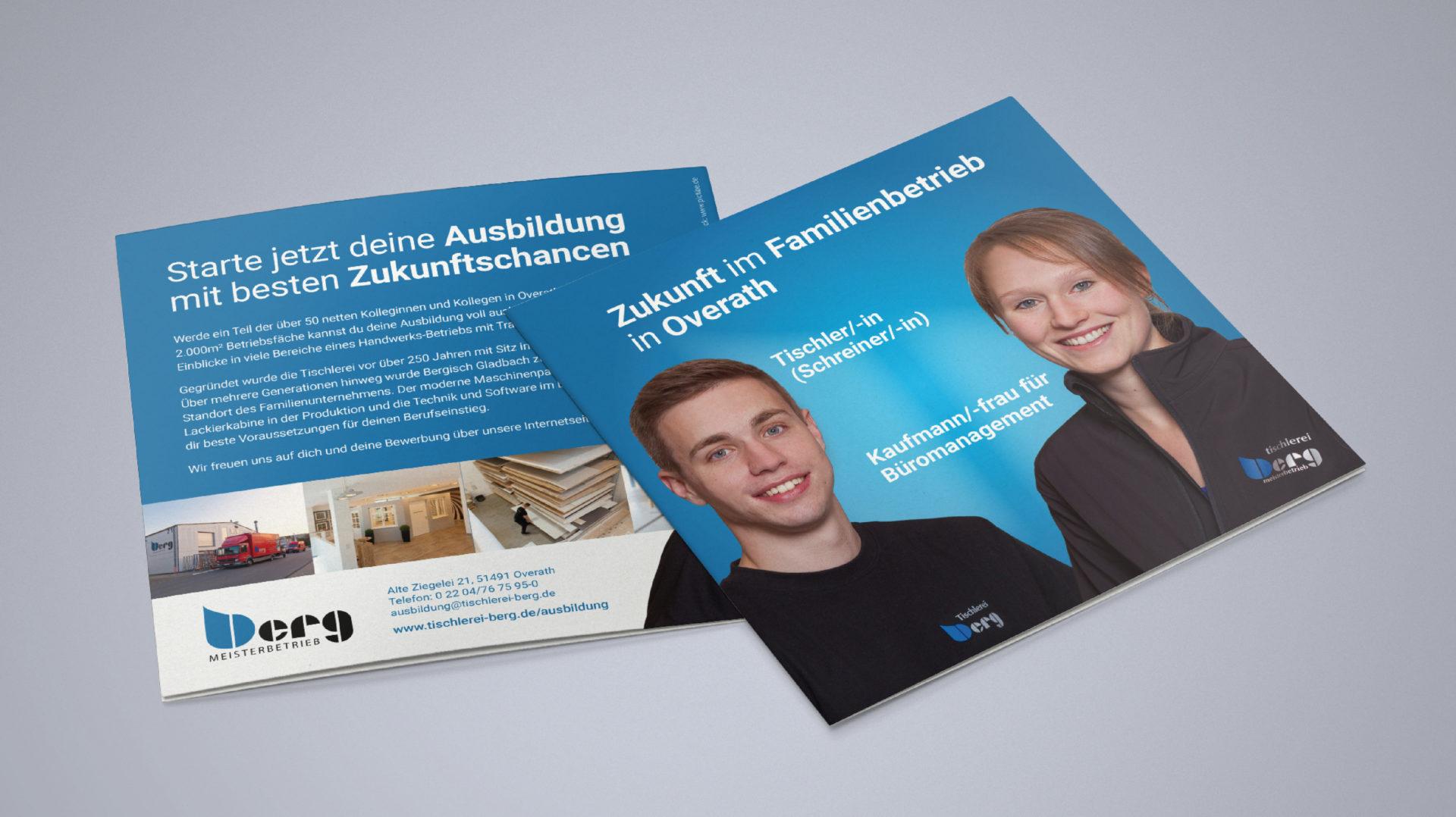 Tischlerei Berg Referenz 7 Druck Print Flyer