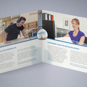 Tischlerei Berg Referenz 8 Druck Print Flyer