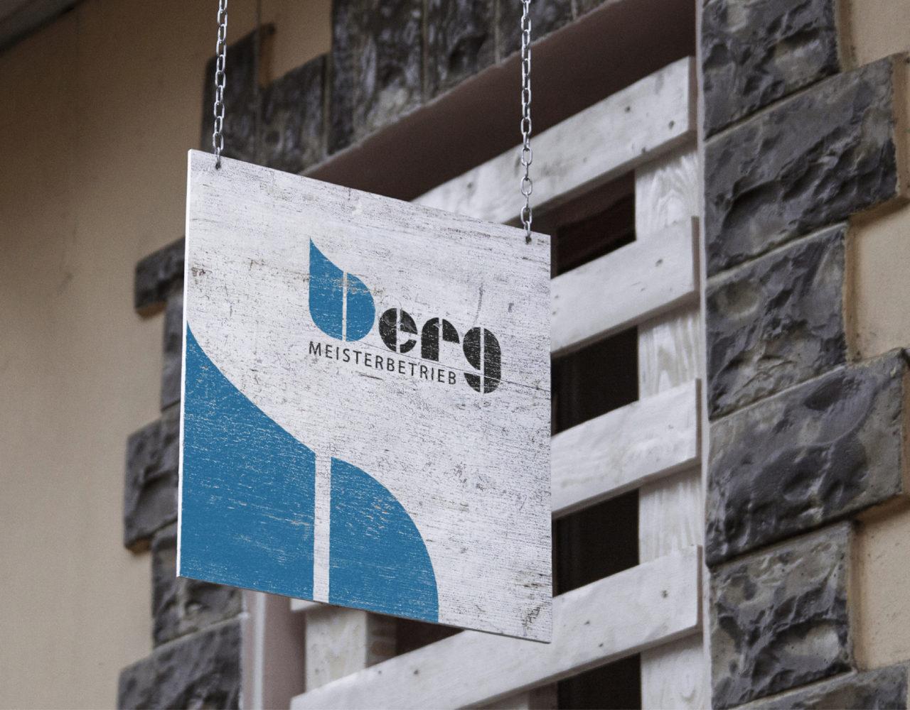 Tischlerei Berg Referenz 9 Druck Print Logo Schild