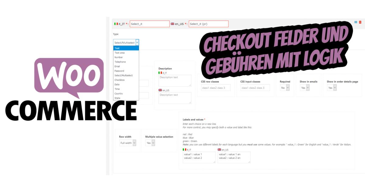 Woocommerce Checkout Felder Gebuehren Rabatte Logik