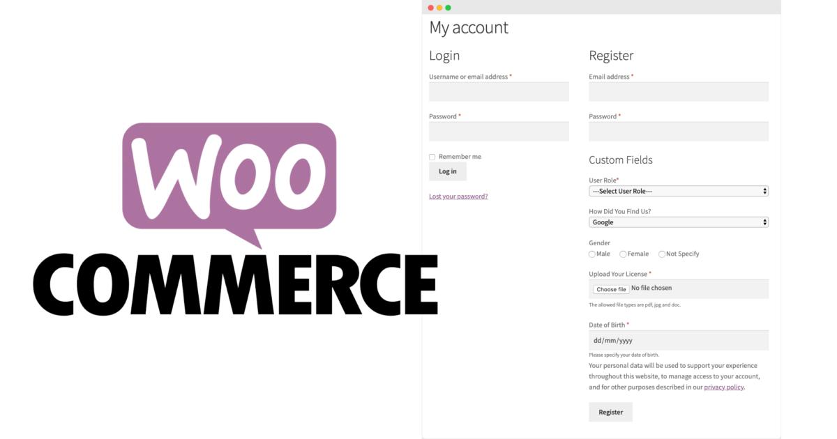 Woocommerce Felder Kasse Benutzerregistrierung Benutzerdaten Kundendanten Custom Checkout Fields
