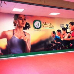 Alans Sport Club Pvc Banner 3x8 Meter Bannerwerbung Werbetechnik