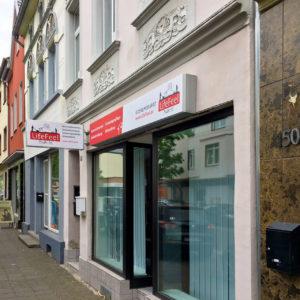 Aufkleber Aussen Aussenwerbung Fensterbeklebung Werbetechnik Beklebung Ladenlokal Fenster Werbung