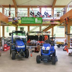 Brenner Motorgeraete Ausstellung Verkaufsraum