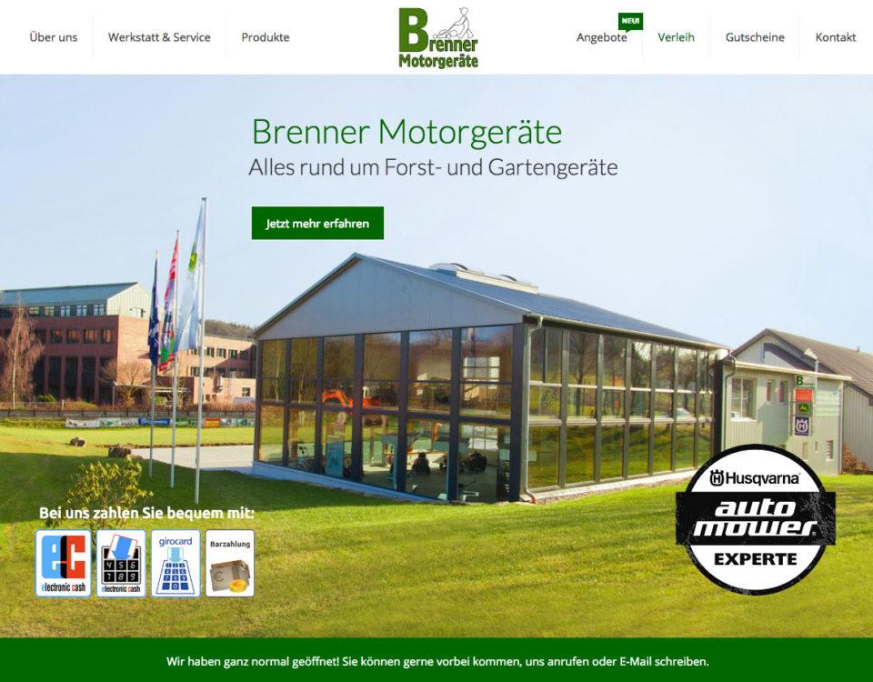 Brenner Motorgeraete Internetseite