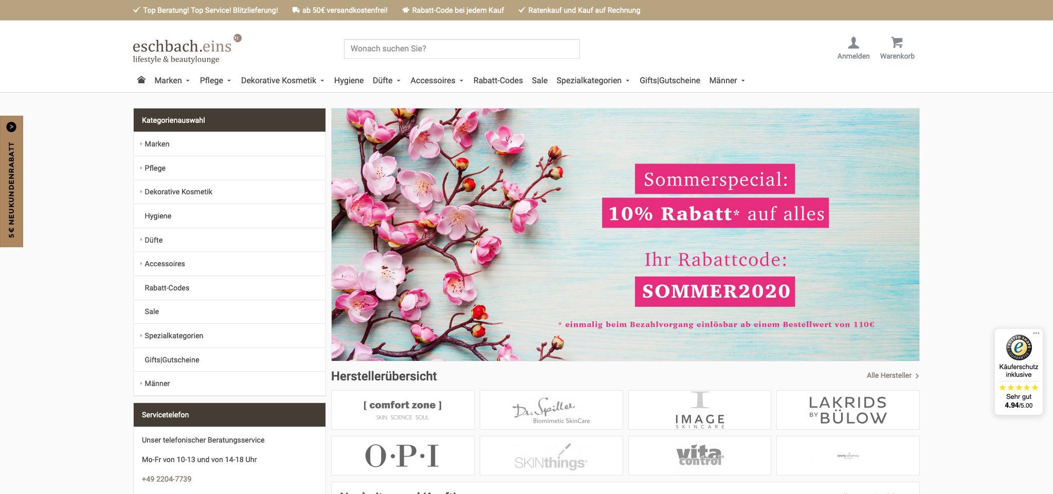 Eschbach Eins Premiumkosmetik Online Shop Kaufen Bestellen