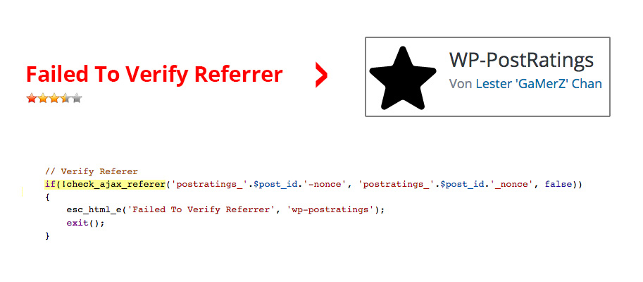 Failed To Verifiy Referrer Wp Post Ratings