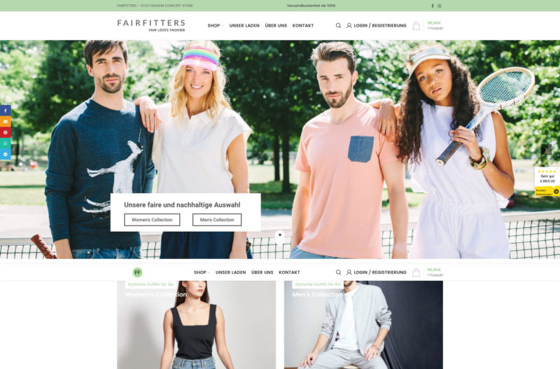 Fairfitters Online Shop Webshop Woocommerce WordPress Agentur Koeln Marketingagentur