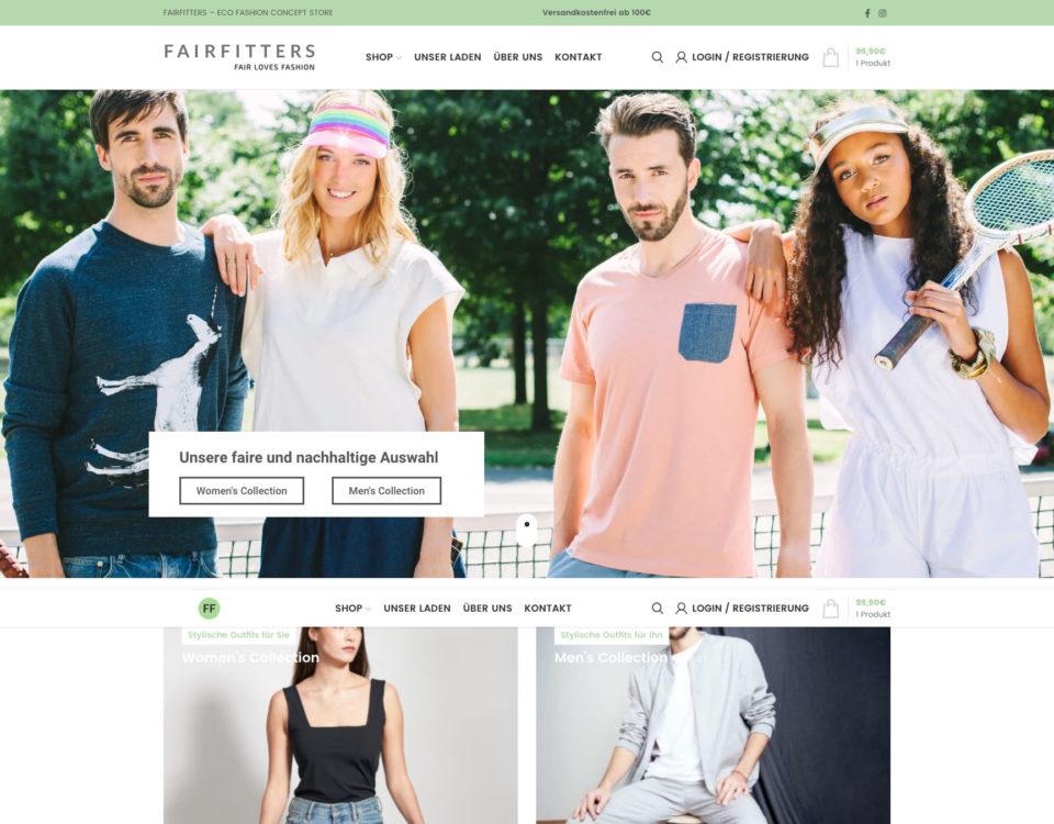 Fairfitters Online Shop Webshop Woocommerce Wordpress Agentur Koeln Marketingagentur