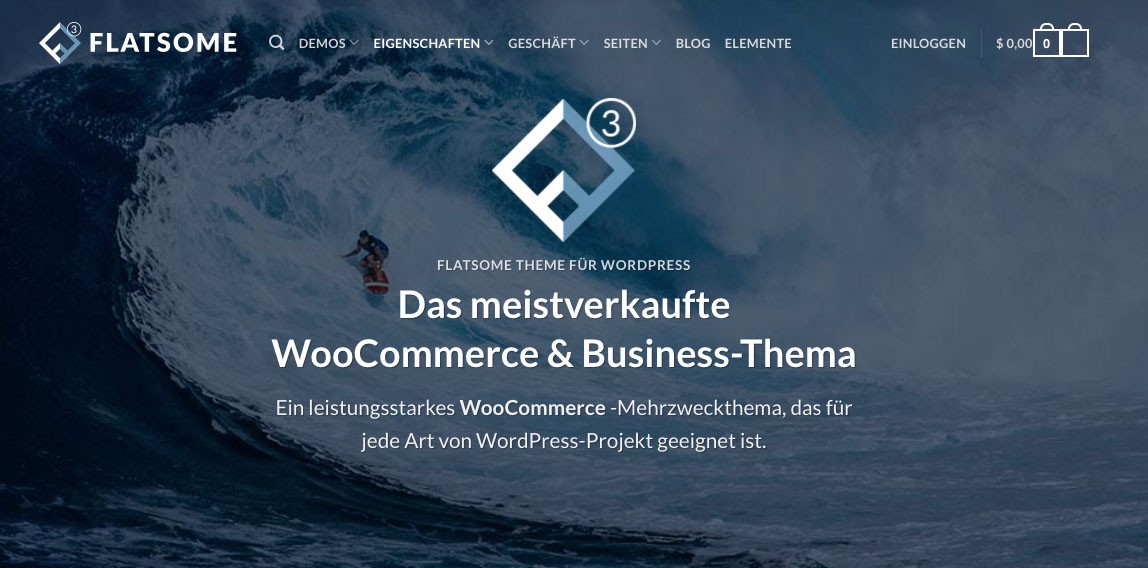 Flatsome Theme Wordpress Woocommerce Shops