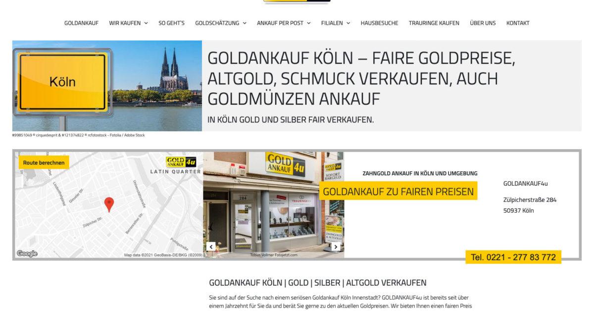 Goldankauf Koeln Goldhandel Goldankauf4u