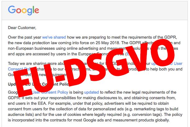 Google Dsgvo Mail Analytics Eu Datenschutzgrundverordnung