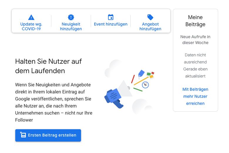 Google My Business Maps Beitraege Produkte Angebote Events Veranstaltungen Optimierung Seo
