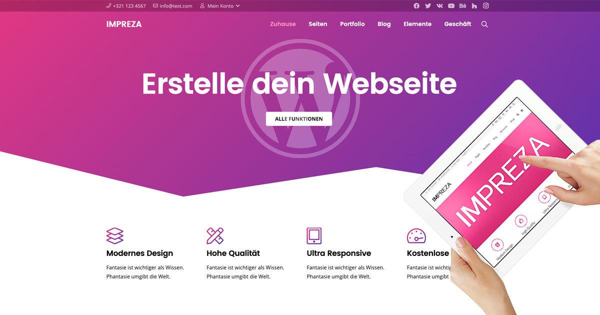 Impreza Theme Wordpress Demo Erfahrung Test Download Themeforest