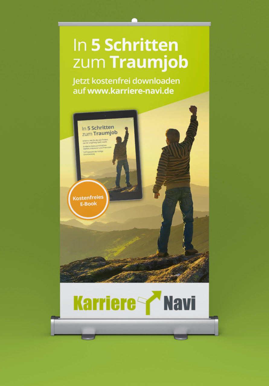 Karriere Navi Referenz 1 Print Druck Roll Up