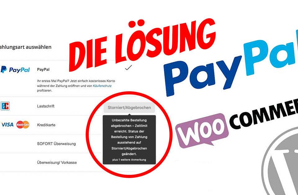 Loesung Woocommerce Paypal Plus Funktioniert Nicht Storniert Abgebrochen