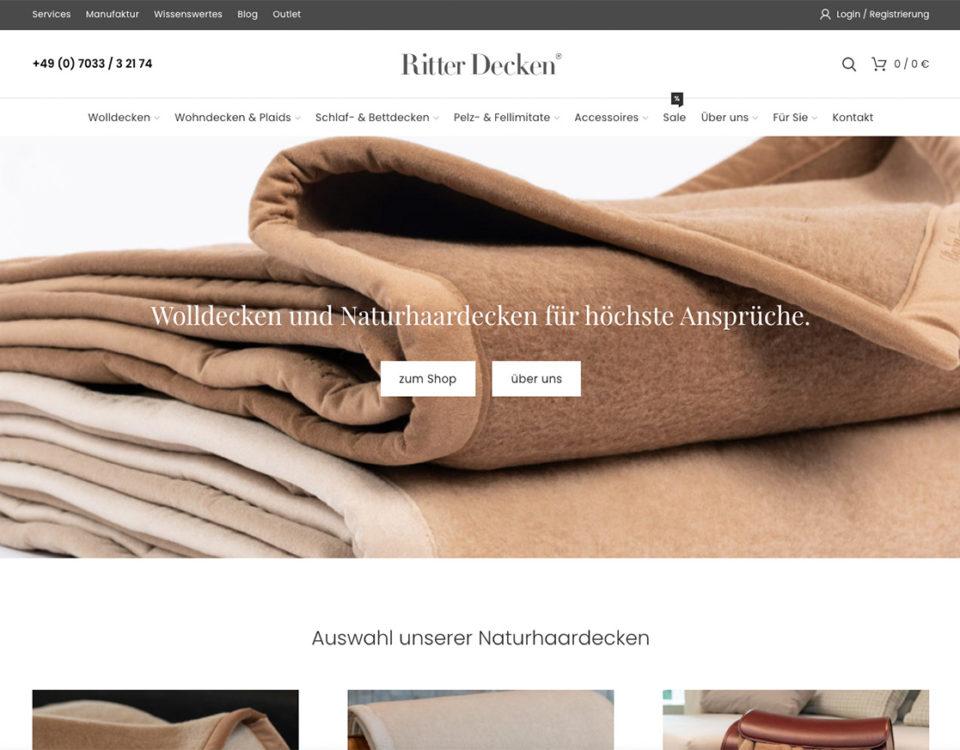 Ritter Decken Naturhaardecken Shop Online Kaufen