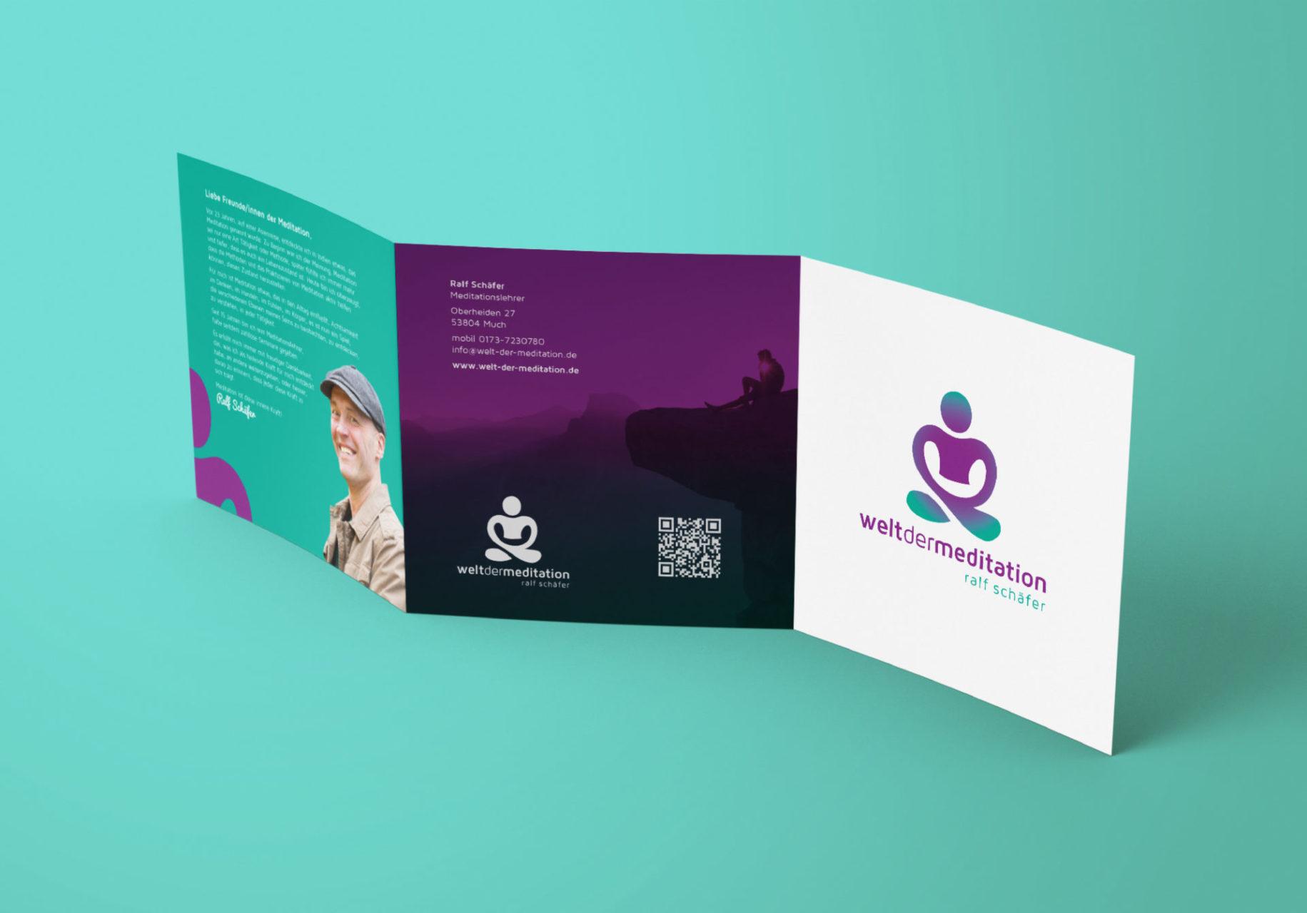 Welt Der Meditation Referenz 2 Print Druck Flyer