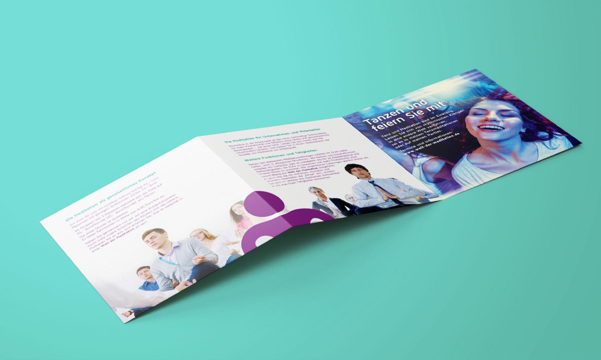 Welt Der Meditation Referenz 3 Print Druck Flyer