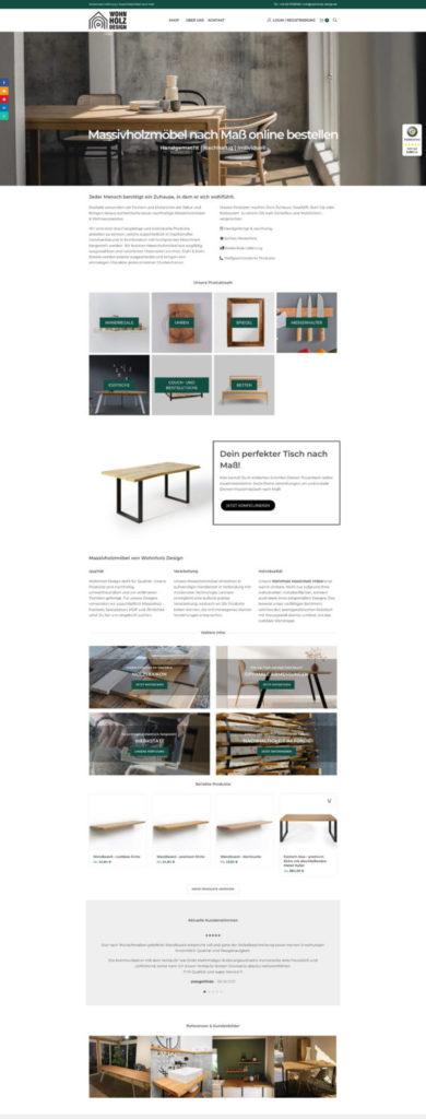 Wohnholzdesign Massivholzmoebel WordPress Woocommerce Shop Webdesign Ecommerce Seo Sea Wp Woo
