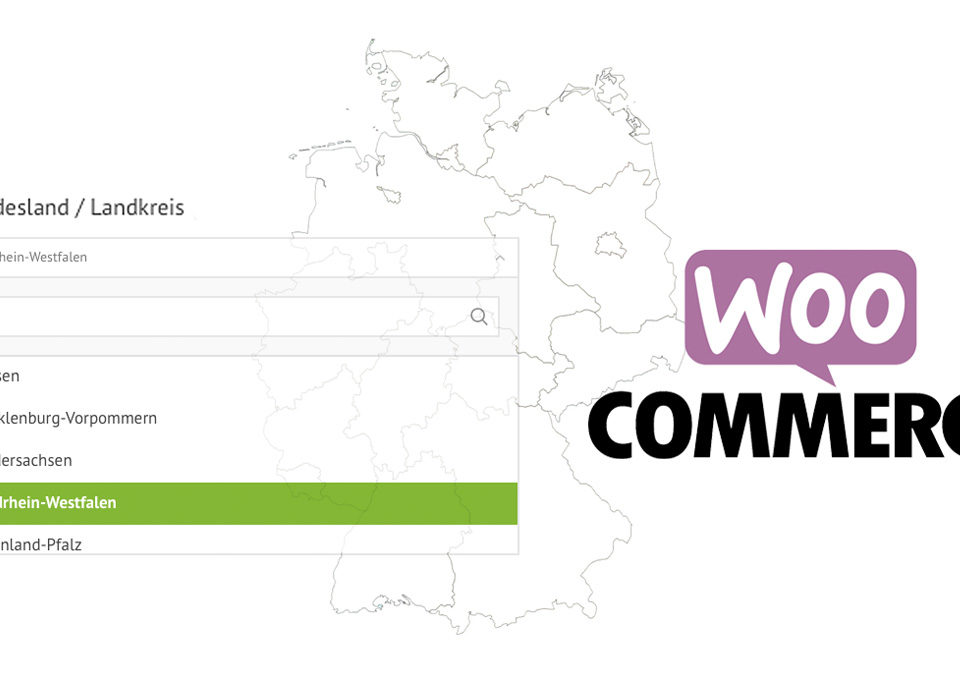 Woocommerce Bundeslaender Auswahl Feld Kasse Checkout Germanized German Market WordPress Shop Webshop