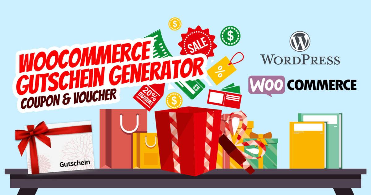 Woocommerce Gutschein Generator Geschenkgutschein Coupon Voucher Wordpress