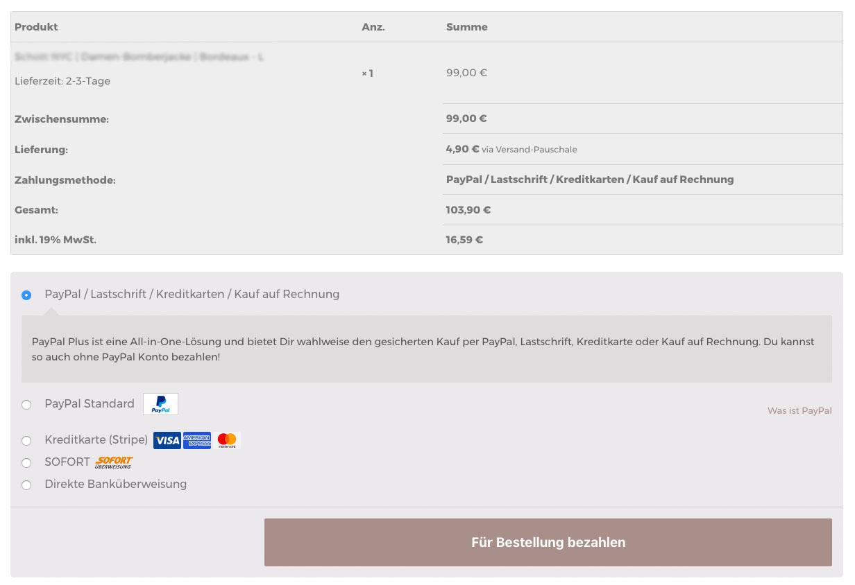 Woocommerce Kundenbezahlseite Kundenbezahlungsseite Fehler Zahlungsart Keine Zahlung Paypal Loesung Zahlungs Ausstehend