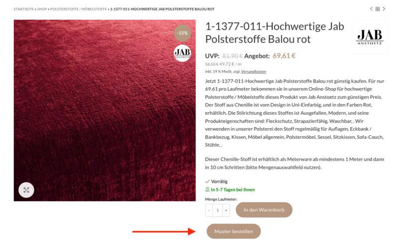 Woocommerce Produktmuster Plugin Muster Bestellung Beispiele Proben Shop