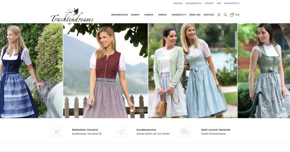 Woocommerce Shop Trachtendreams Schnittstelle Onlinemarketing