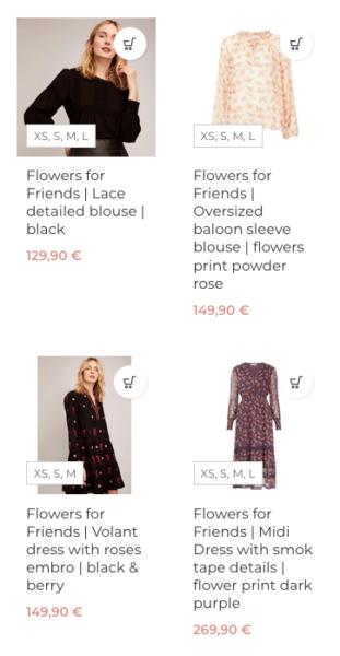 Woocommerce Verfuegbare Groessen Produktuebersicht Anzeigen Varianten Anpassen Mode Onlineshop Fashion