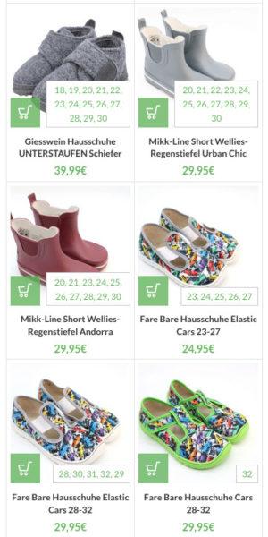 Woocommerce Verfuegbare Groessen Produktuebersicht Anzeigen Varianten Anpassen Schuhgroessen