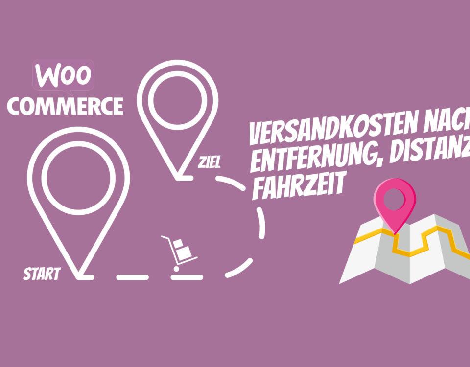 Woocommerce Versand Nach Entfernung Distanz Lieferservice Entfernungstarif Regionale Vermietung Dienstleistungen