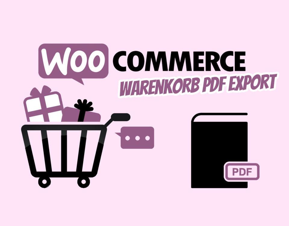 Woocommerce Warenkorb Pdf Funktion Angebots Pdf Plugin