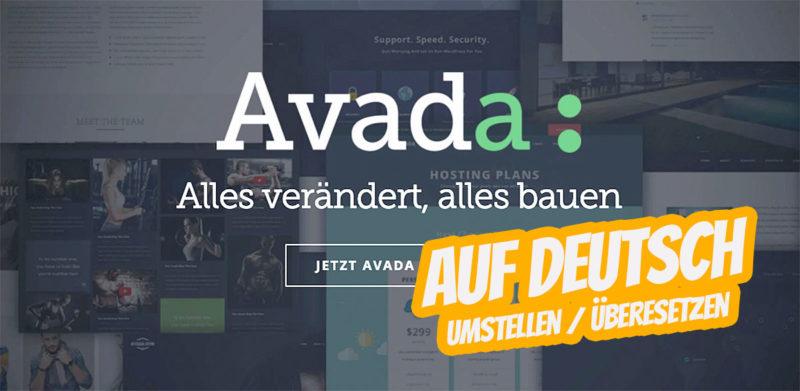 Ganz einfach WordPress Avada Theme auf Deutsch umstellen
