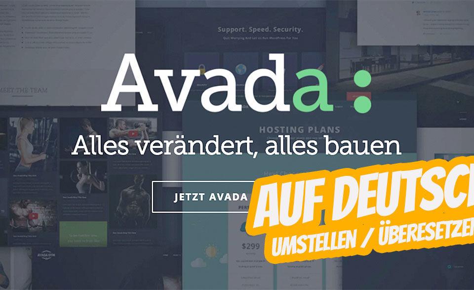 Wordpress Avada Theme Deutsch Uebersetzen Umstellen