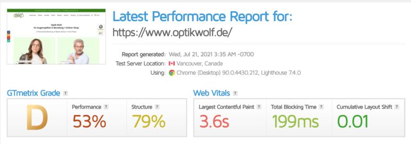 Wordpress Seite Schneller Machen Wp Webseite Woo Woocommerce Shop Page Speed Optimierung Ladezeit Gtmetrix Vorher