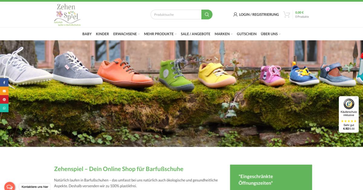 Zehenspiel Online Shop Ecommerce Woocommerce Agentur Online Marketing